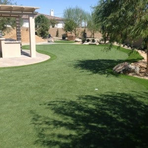 synthetic grass backyard putting green design