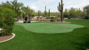 Arizona backyard putting green design
