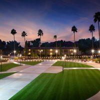 artificial grass installation at Scottsdale resort