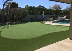 scottsdale, arizona private backyard putting green