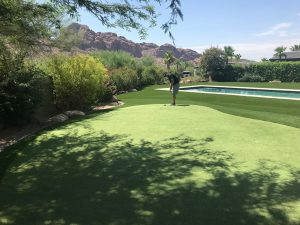 paradise valley backyard putting green