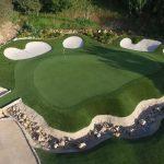 elaborate custom putting green design
