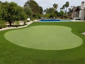 beautiful backyard private putting green